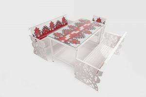 scaun din set mobilier Folclor