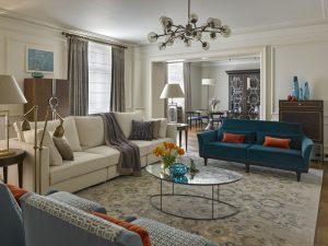 Apartament eclectic original cu tuse vibrante