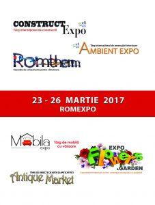 (P) Maraton expozițional de construcții, ambientări,amenajări peisagistice și instalații – între 23 și 26 martie, la ROMEXPO