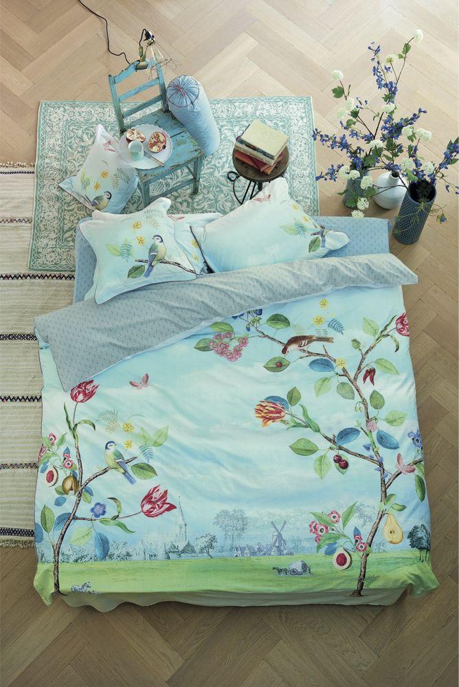 decorul naturii în dormitor lenjerie de pat