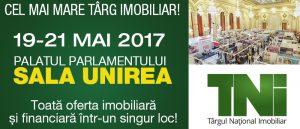 (P) Ultimele spații disponibile la Târgul Național Imobiliar TNI 19-21 MAI, Palatul Parlamentului- Sala UNIREA