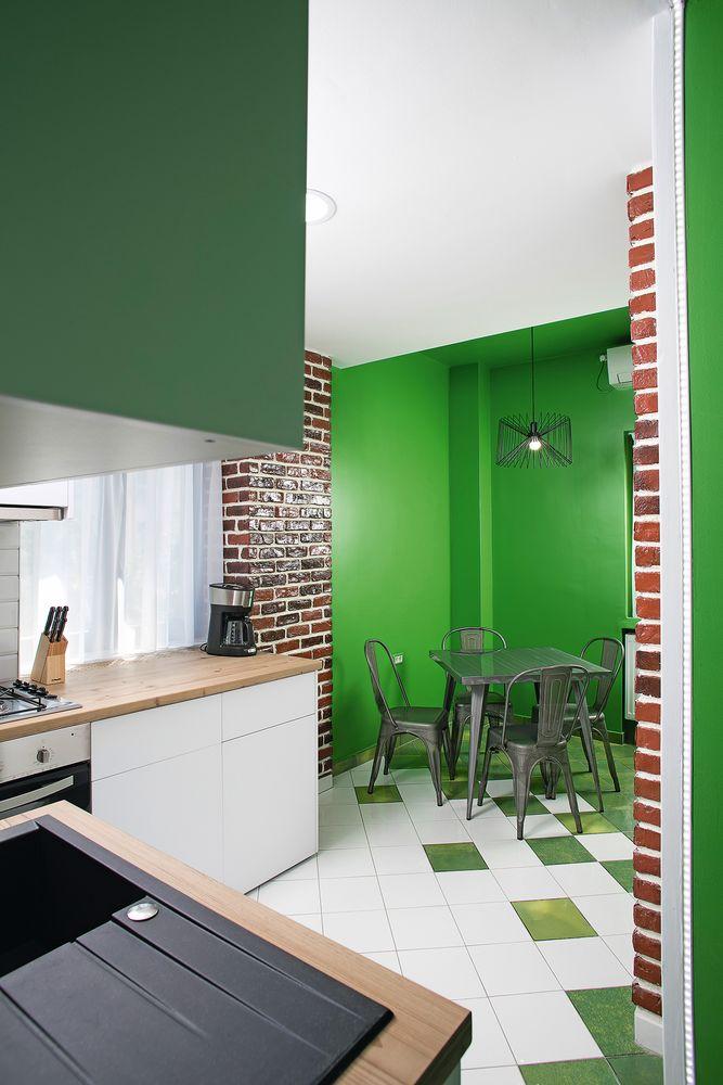 amenajare verde bucătărie