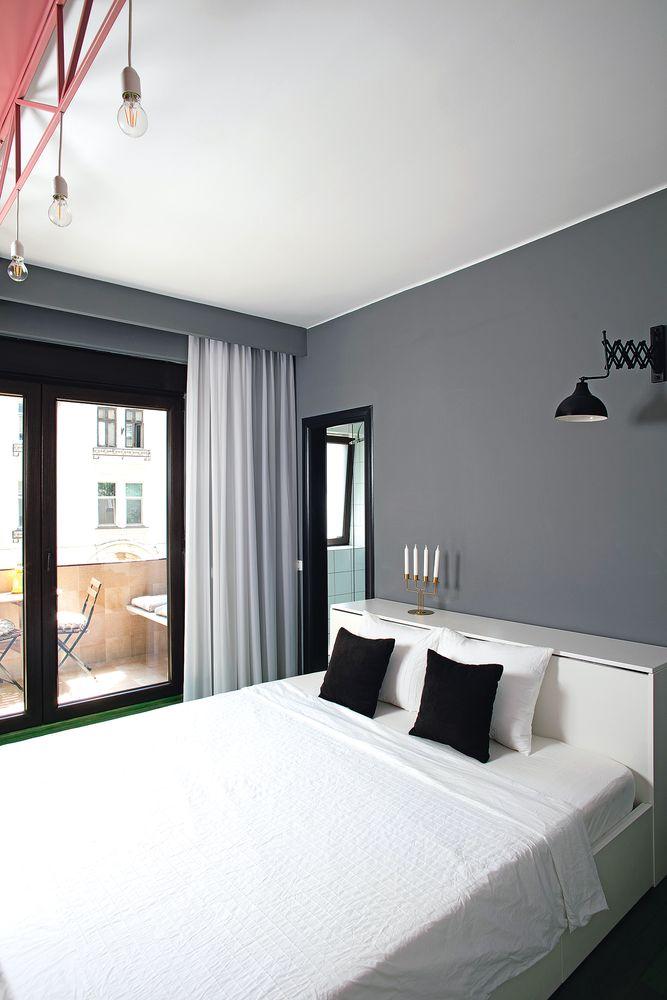 amenajare verde dormitor industrial