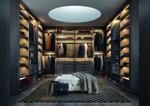 Imaginea clară a luxului: un dressing spațios