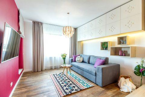 Elemente tradiționale românești într-un apartament cochet