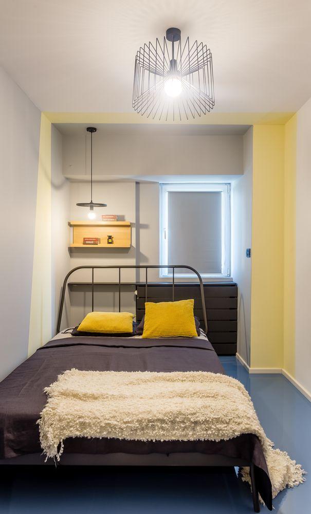 garsonieră transformată dormitor