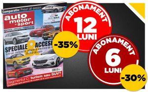 Ofertă specială: abonează-te la revista Auto Motor și Sport cu până la 35% reducere!
