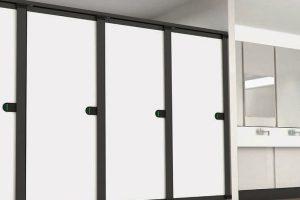 (P)  Compartimentarea băii cu pereţi mobili de la Office Nova Concept – o soluţie modernă şi estetică