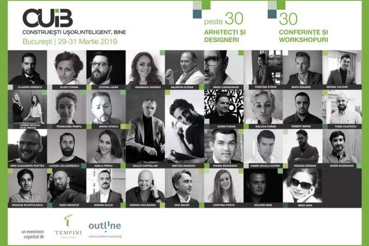 CUIB – Evenimentul Anului în Domeniul Arhitectură & Design 29 – 31 Martie, București